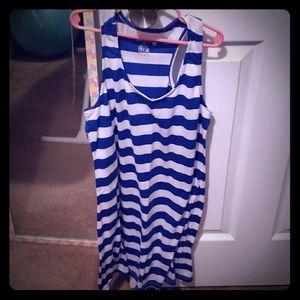 Womens striped tank dress